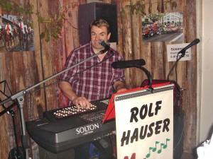Die H&G Gewerbebeiz, Rolf Hauser unser Music-Man
